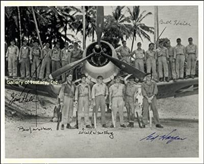 The Black Sheep Squadron Photograph - Signed By 5 Members Of The Squadron