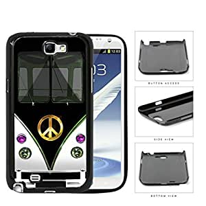 Hippy Mini Van with Peace Sign in Center Series Hard Snap on Cell Phone Case Cover Samsung Galaxy Note 2 N7100 (black) WANGJING JINDA