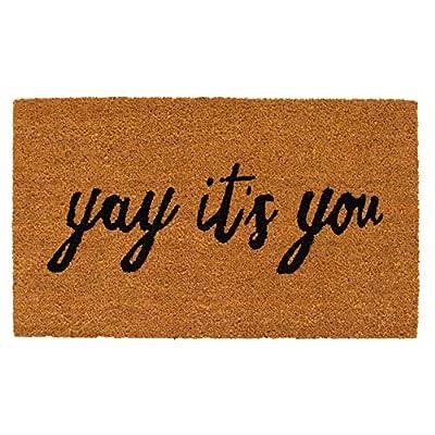 Calloway Mills AZ106051729 Yay It's You Doormat, Natural/Black