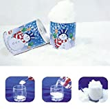6pcs/lot Funny Christmas Gifts Instant Snow Magic Snow Fake Snow Christmas Toys Flake Spray Party Artificial Instant Snow