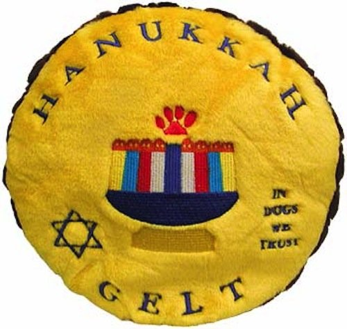 Copa Judaica Chewish Jewish Plush Dog Toy Hanukkah Gelt Money - Medium ()