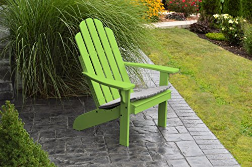 BEST ADIRONDACK CHAIR PORCH FURNITURE & PATIO SEATING, Kennebunkport Design & Stylish Outdoor Living, Perfect for Front Entry & Back Yard, Fire Pit & Pool Side, Fun Color Choices (Lime)