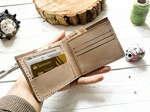 Beige wallet | mens wallet | Gift | without logo| father | boyfriend | card