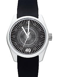 Men's 'ECLECTIC' Quartz Plastic and Silicone Casual Watch, Color:Black (Model: 40N3.7BK)