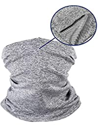 Kids Neck Gaiter Bandana Face Mask Scarf Cover Multi-Purpose Sun UV Dust Wind Proof Balaclava for Summer Outdoor Sports Cycling Hiking Fishing, Light Gray