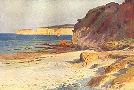 Studland Bay, Swanage  Dorset  By Ernest Haslehust - 1920 - old