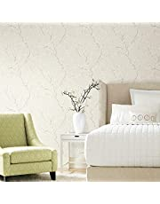 RoomMates Beige Cherry Blossom Peel and Stick Wallpaper