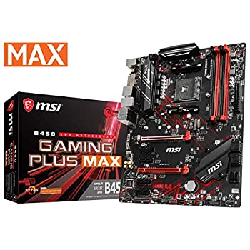 Image of MSI Performance Gaming AMD Ryzen 2ND and 3rd Gen AM4 M.2 USB 3 DDR4 DVI HDMI Crossfire ATX Motherboard (B450 Gaming Plus Max) Motherboards