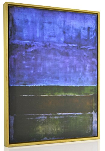 Berkin Arts FRAMED Mark Rothko Giclee Canvas Print Paintings Poster Reproduction Fine Art Home Decor (Blue Green and Brown)