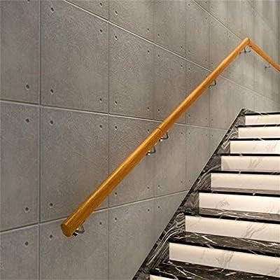 Pasamanos de escaleras, los niños de 1 pie de la escalera de 20 pies- pasamanos, pared antideslizante pasamanos de la escalera de madera, adecuado for hoteles, empresas, piscinas, gimnasios, salas de b: Amazon.es: