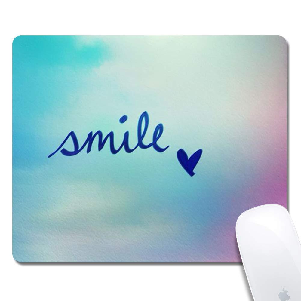 マウスパッド ステッチエッジ クールファック カスタマイズデザイン 拡張ゲームマウスパッド 滑り止めゴムベース 人間工学マウスパッド コンピューター用 ブラック 長方形 B07JNBHKM5 Smile Heart  Smile Heart