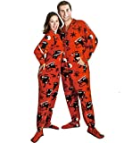 Ninja Monkey Polar Fleece Drop Seat Footed Pajamas, Size 4