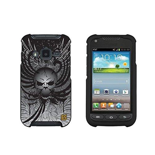 Spots8® for Samsung Galaxy Rugby Pro Slim Fit Case - black Skull Head (Rugby Samsung Case Galaxy)