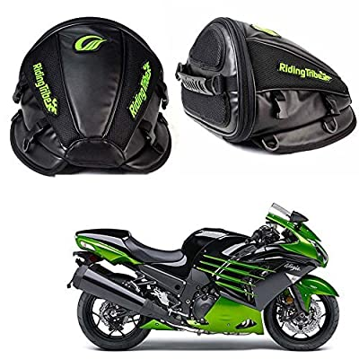 Fotag Motorcycle Backseat Saddle Bag Multifunctional Waterproof PU Leather Storage Tank Bag for Motorbike Luggage Riding Rear Seat Super Light Tail Accessories Bags, Black from Guangzhou Fotag commerce co., LTD
