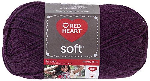 Red Heart  Soft Yarn, Grape (Grape Iron)
