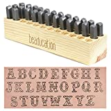 Cowgirl Carnival Metal Letter Stamp Set, Uppercase 7mm (26 Piece Alphabet Punch Tool Set A-Z) for Stamping Metal for Hand Stamped DIY Jewelry Crafts - Beaducation Original