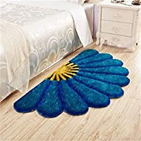 Ruhal Fabb Half Round Sunflower Area Rug Mats for Bedroom Living Room Round Mats Computer Chair Mat