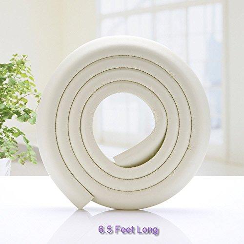 SXCtech - 6.5 FT Extra Wide And Thick Safe Edge and Corner Cushion Guard. Baby And Child Proof Table And Furniture Safety Protection (White) ... ()