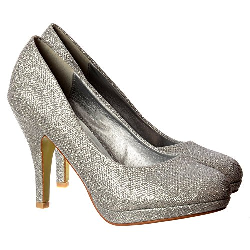 Malla Onlineshoe Femenina Brillo Chispeante Brillo - Zapato De Tacón Bajo  Plataforma Corte - Malla De Oro 4169d7068f31