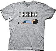 Bobs Burgers Uhhh Tina Lying On Floor Mens Grey T-Shirt
