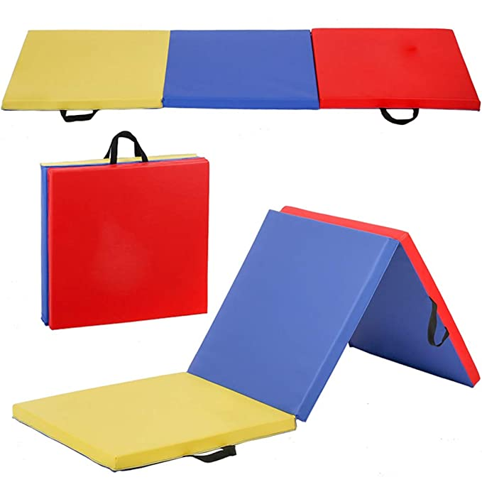 Amazon.com: 6 plegable Panel gimnasia gimnasio y fitness ...