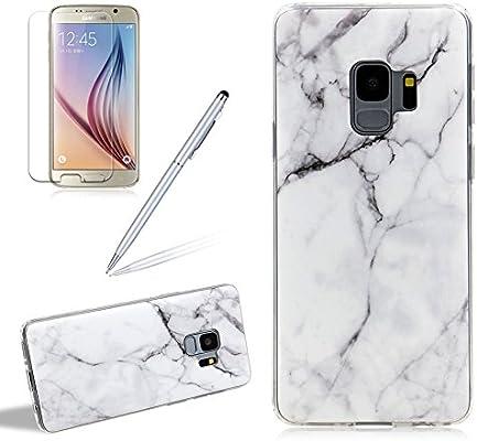 girlyard mármol silicona móvil para Samsung S9, ultrafina suave ...