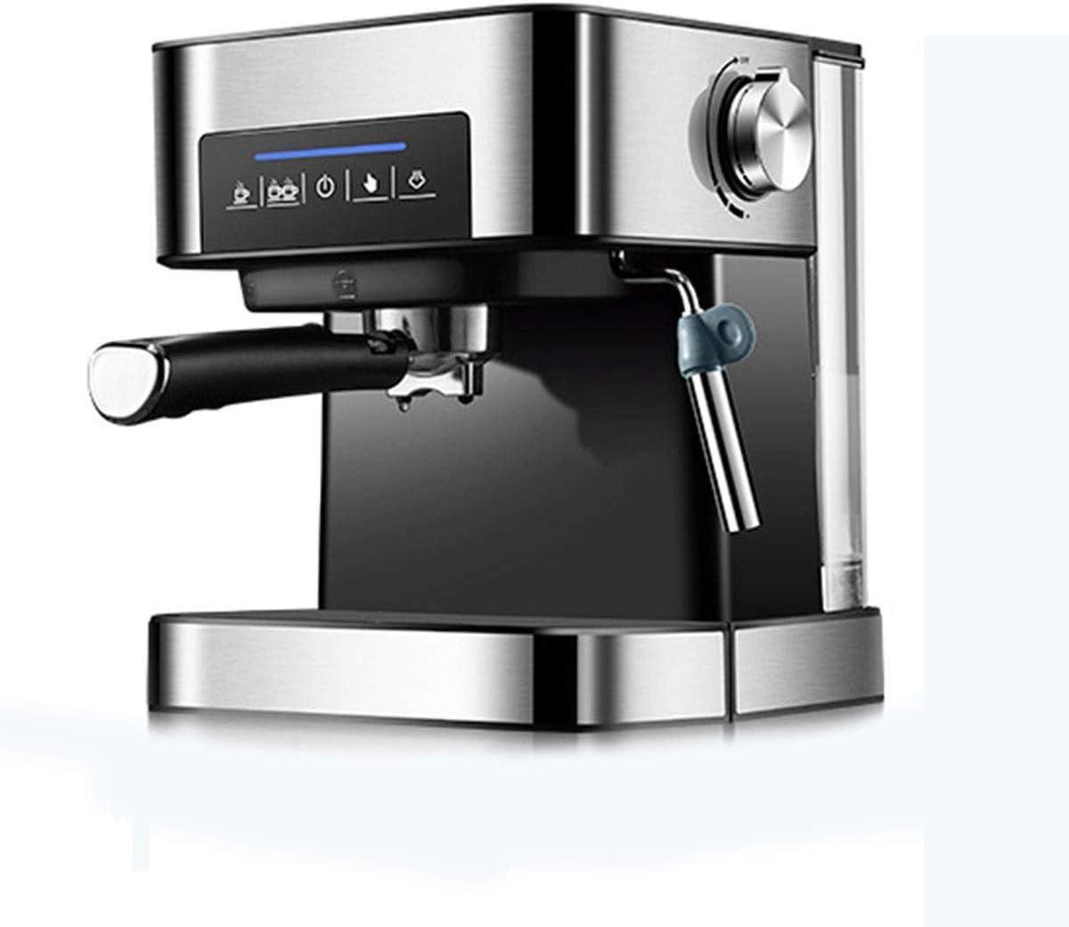 KaiKai Máquina de café, 1350W / y 20 Bares / 1.6L Italiana Cafetera, eléctrico semiautomático Cafetera Alta presión, Hogares Tire Flor de Vapor Leche vaporizador