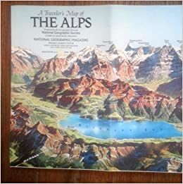 National geographic map a travelers map of the alps national national geographic map a travelers map of the alps national geographic society amazon books sciox Gallery