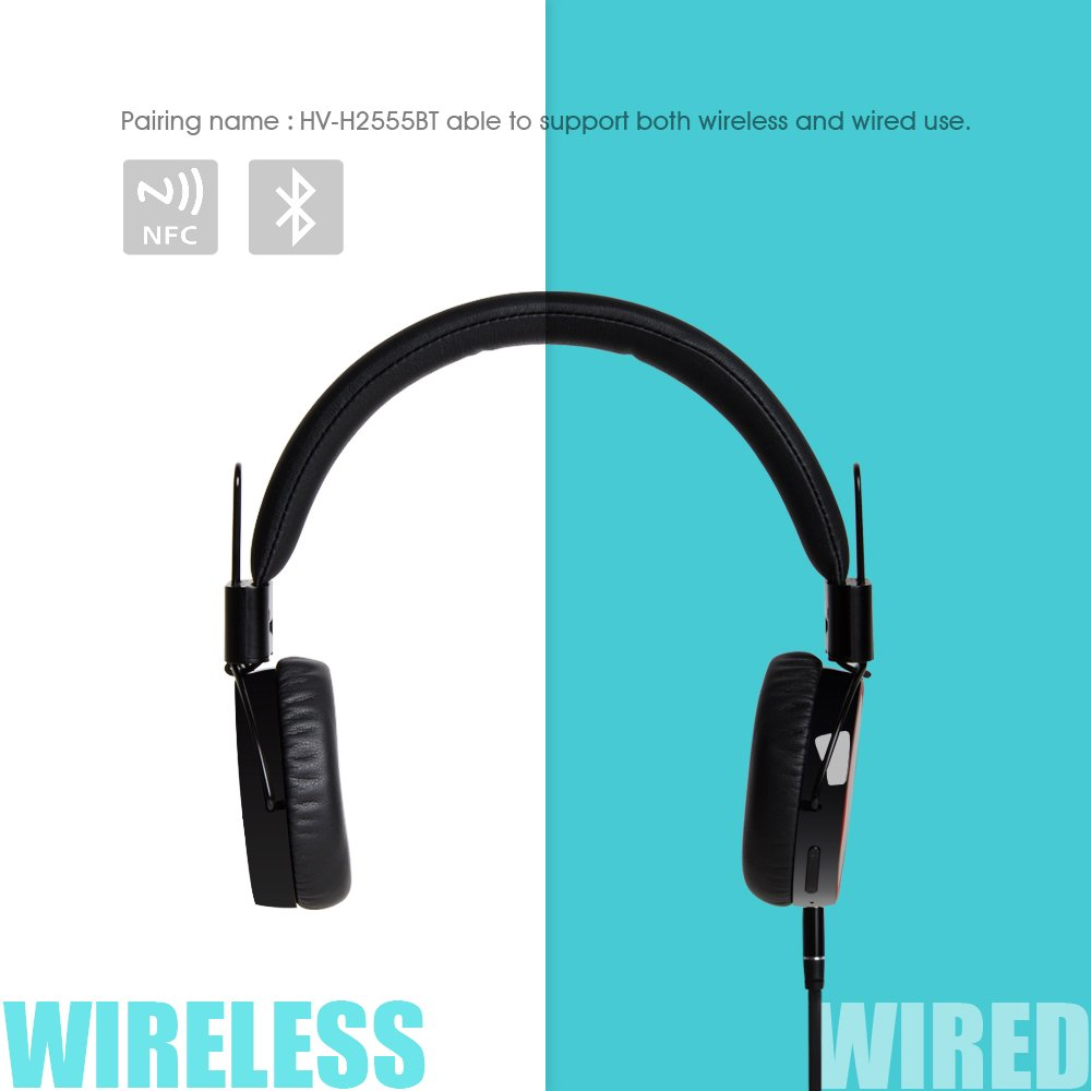 Amazon.com: HAVIT HV-H2555BT HD Stereo Bluetooth NFC Wired ...