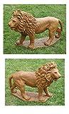 Set of 2 Majestic Lion Cast Stone Concrete Outdoor Garden Statues Review
