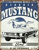 Star 55 Large Car Garage Auto Ford Classic Mustang Vintage Retro Metal Tin Wall Sign 1813
