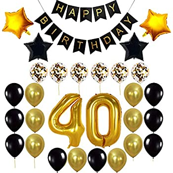 Decocheer 40th Birthday Decorations Gift For Men Women Party Supplies