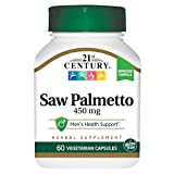 21st Century Saw Palmetto 450mg Veg Capsules, 60 Count