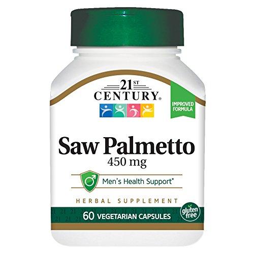 21st Century Saw Palmetto 450mg Veg Capsules, 60 Count
