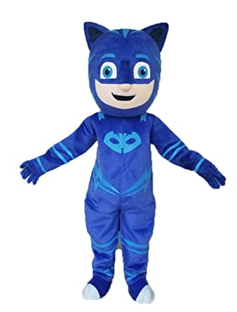 Aris pj Masks Costumes Catboy Costume pj mask Mascot Catboy Dress Adults