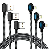Made for The Game Connecting Cable - 2.4A Current 90 Degree USB AM Reversible Cool Working Indicator Compatible iPhone Xs MAX XR X 8 8 Plus 7 7 Plus 6s 6s Plus 6 6 Plus(10FT/3M)