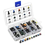 AuSL Colorful Tactile Push Button Switch 10 Values 190PCS Micro Momentary Tact Assortment Kit(Switch-190pcs)