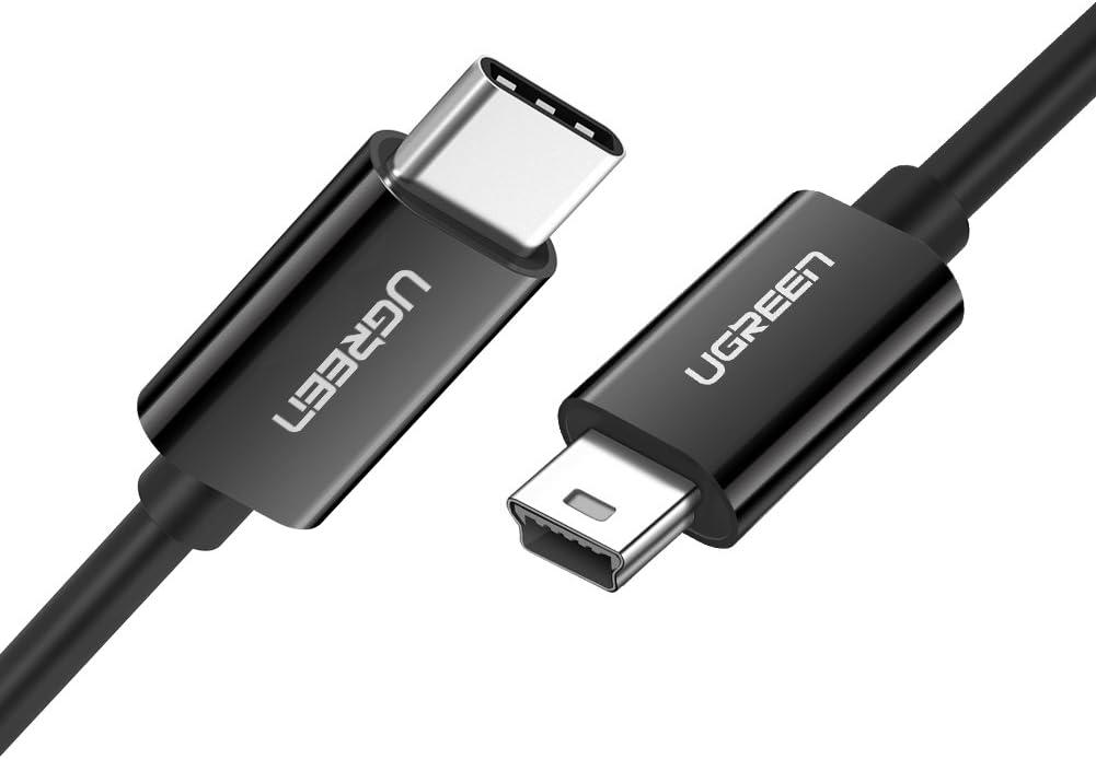 Cable Mini USB - USB tipo C para camara digital, mp3, etc