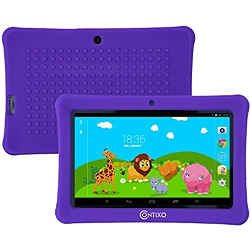 Contixo Kids Safe 7 Quad-Core Tablet 8GB, Bluetooth, Wi-Fi, Cameras, 20+ Free Games, HD Edition w/ Kids-Place Parental Control, Kid-Proof Coupons