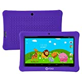 Contixo Kid Safe 7'' HD Tablet WiFi 8GB Bluetooth, Free Games, Kids-Place Parental Control W/ Kid-Proof Case (Purple) - Best Gift