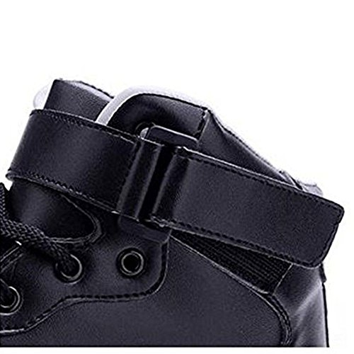Luckfugui Uomo Donna Adulto In Metallo High Top Usb Led Light Up Scarpe Sneakers Lampeggianti, Scarpe Hiphop, Scarpe Da Ballo Di Strada Black2
