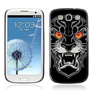 Colorful Printed Hard Protective Back Case Cover Shell Skin for Samsung Galaxy S3 III / i9300 i717 ( Black Panther Illustration )