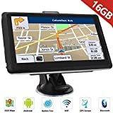 HiEHA 7 Inch GPS Navigation Device Navigation Truck Car Bluetooth Europe Traffic Android 16GB 512MB Flash Alerts POI Lane and Parking Assistant Lifetime Free Map Updates