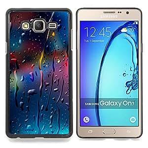 "Qstar Arte & diseño plástico duro Fundas Cover Cubre Hard Case Cover para Samsung Galaxy On7 O7 (Gotas color"")"