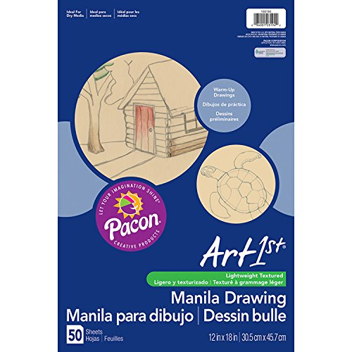 Pacon PAC103194 Art1st Drawing Paper, 12'' x 18'', Manila (Pack of 50) by Pacon