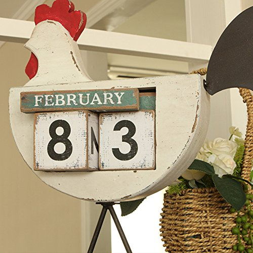 The cocks creative calendar ornaments home bedroom furnished with American retro displayed so the old decorations by TDLC (Image #4)
