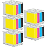 5 Set of 4 Inkfirst® Ink Cartridges LC51BK, LC51C, LC51M, LC51Y Compatible Remanufactured for Brother LC51 Black, Cyan, Magenta, Yellow IntelliFax 1360 1860C 1960C 2480C 2580C DCP-130C DCP-330C DCP-340CN DCP-350C MFC-230C MFC-240C MFC-3360C
