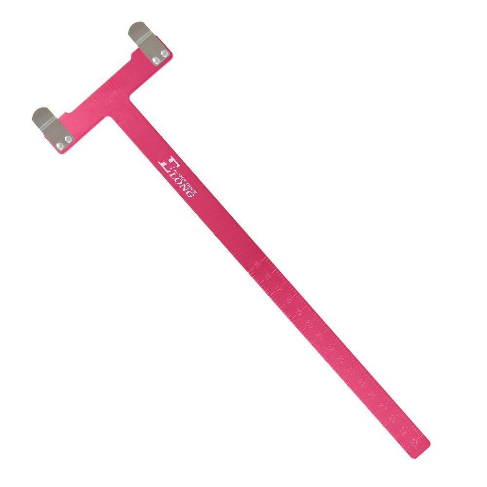 Yla Archery righello T lega di alluminio strumento per Compound Recurve Longbow freccia caccia 1PC, Blue