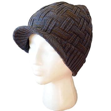 25cb43f5c1d Amazon.com  Best Winter Cuff Knit Beanie Visor Hat in 5 colors ...