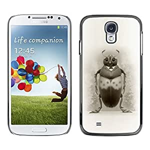 Colorful Printed Hard Protective Back Case Cover Shell Skin for SAMSUNG Galaxy S4 IV / i9500 / i9515 / i9505G / SGH-i337 ( Bug Art Drawing Beetle Pencil Black White )
